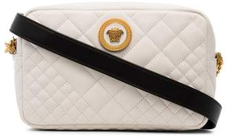Versace white quilted cross-body bag