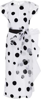 Carolina Herrera Polka-Dot Cap Sleeve Bow Dress Size: 0