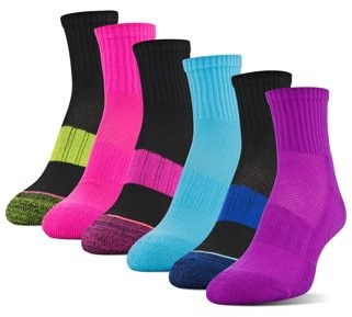 Athletic Works Women's Midcushion Ankle Socks, 6 Pairs