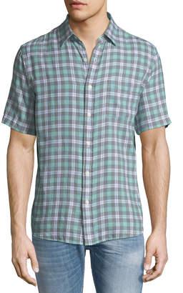 Faherty Men's Ventura Madras Plaid Short-Sleeve Sport Shirt