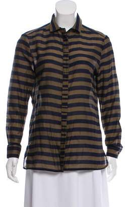 Burberry Striped Button-Up Tunic