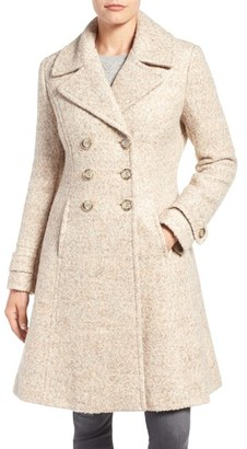 Women's Ivanka Trump Double Breasted Fit & Flare Coat $248 thestylecure.com
