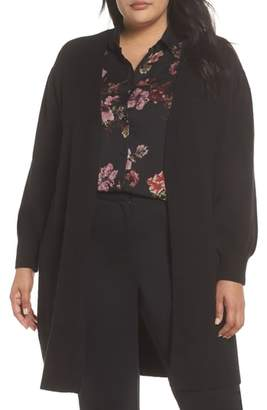 Vince Camuto Drama Bubble Sleeve Long Cardigan