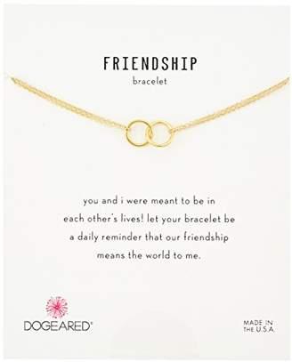 Dogeared It's Personal Friendship Double-Linked Rings Chain Bracelet