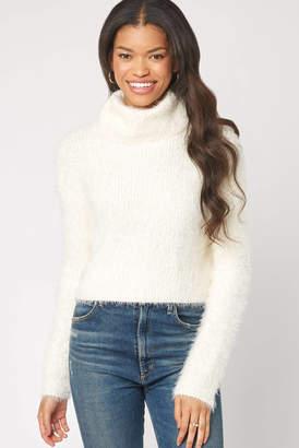 BB Dakota Eyelash Turtleneck Pullover