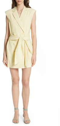 Tibi Tie Waist Blazer Dress