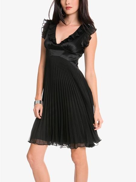 Voisin Corset Pleated Dress