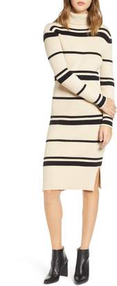 J.o.a. Stripe Turtleneck Dress