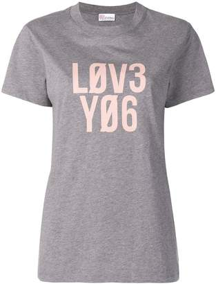 RED Valentino Love print T-shirt