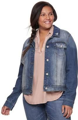 91aa8e7640f62 Mudd Juniors  Plus Size Faded Core Denim Jacket