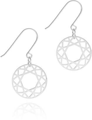 Myia Bonner Silver Brilliant Diamond Drop Earrings