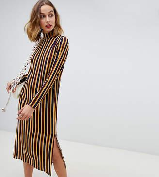 Reclaimed Vintage inspired midi dress in stripe print