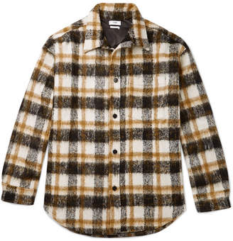 Cmmn Swdn Sergey Oversized Checked Fleece Shirt Jacket