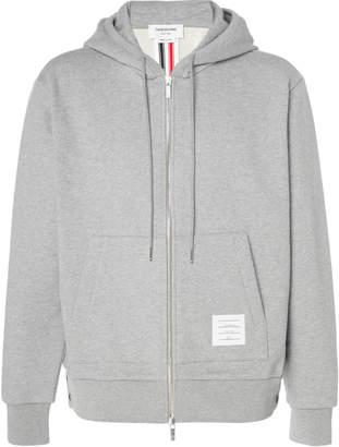 Thom Browne Stripe-Detailed Cotton Zip Hoodie