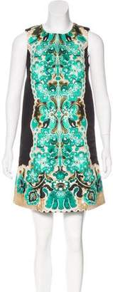 RED Valentino Abstract Print Sleeveless Dress