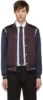 Paul Smith Burgundy and Navy Varsity Jacket