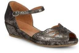 Gentle Souls Lily Moon Metallic Wedges