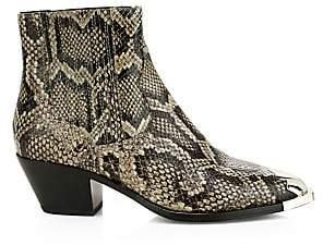 Ash Women's Floyd Snakeskin-Embossed Leather Ankle Boots