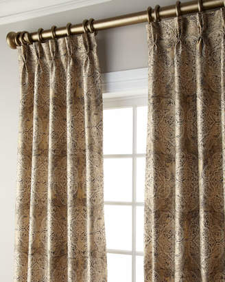 "Thomas Laboratories Misti Modern Luxuries Ikat Blackout Curtain, 120""L"
