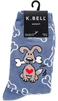 K. Bell Novelty Pet Socks Dog with Bones