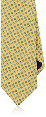 Barneys New York MEN'S TURTLE-PRINT SILK NECKTIE