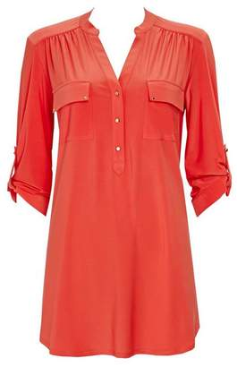 Wallis Orange Longline Shirt