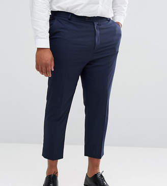 Asos Design DESIGN Plus tapered smart trousers in navy