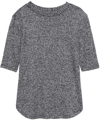 Banana Republic Luxespun Ribbed Crew-Neck T-Shirt