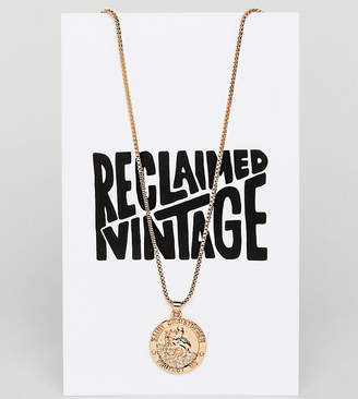 Reclaimed Vintage Inspired Coin Pendant Necklace