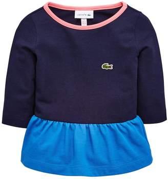 Lacoste Girls Long Sleeve Peplum T-Shirt