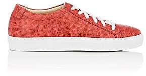 Barneys New York MEN'S SAFFIANO LEATHER SNEAKERS - RED SIZE 10 M