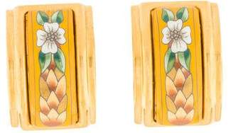 Hermes Enamel Clip-On Earrings