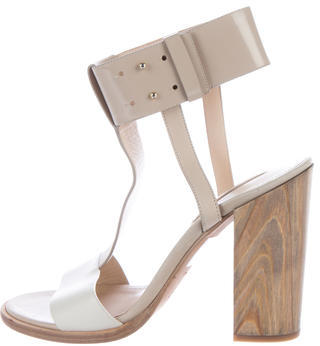 Hugo Boss Leather Colorblock Sandals $225 thestylecure.com