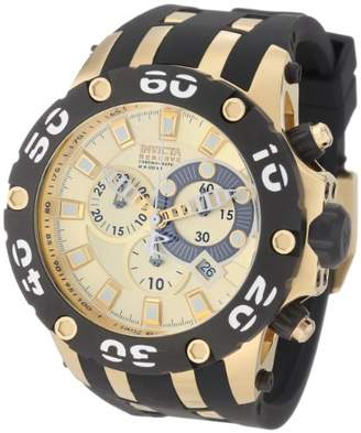 Invicta Men's 0917 Subaqua Reserve Chronograph Dial Black Polyurethane Watch