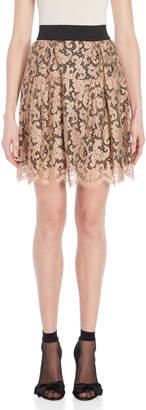 Dolce & Gabbana Beige Lace Mini Skirt