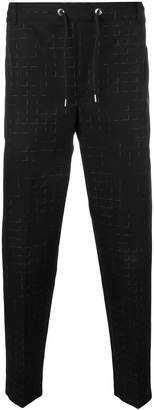 MAISON KITSUNÉ check cropped trousers