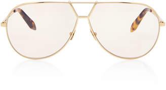 Victoria Beckham Oversized Aviator-Style Metal Sunglasses