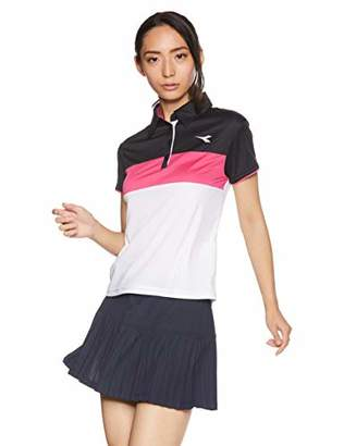 Diadora (ディアドラ) - [ディアドラ] DTG8393 Wゲームシャツ(レディース) テニスシャツ ホワイト 日本 L (日本サイズL相当)