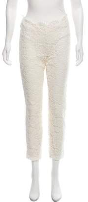 Valentino Mid-Rise Lace Pants