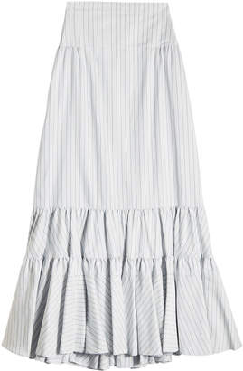 Calvin Klein Printed Skirt in Silk and Cotton