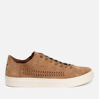 Men's Lenox Woven Panel Suede Trainers