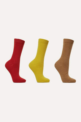 Falke Set Of Three Knitted Socks - Brown