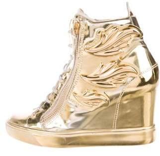 Giuseppe Zanotti Patent Leather Sneaker Wedge