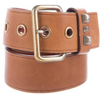 prada Prada Studded Leather Belt