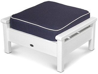 Polywood Harbour Deep-Seating Ottoman - Navy/Tan