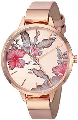 Nine West Women's NW/2044RGPK -Tone and Blush Pink Strap Watch