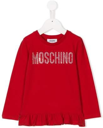 Moschino Kids long-sleeve embellished T-shirt