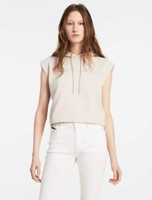 Calvin Klein sleeveless cropped hoodie