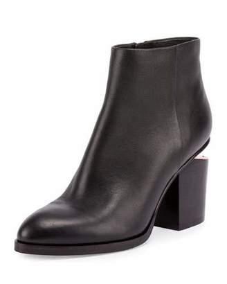 Alexander Wang Gabi Tilt-Heel Leather Boots, Black