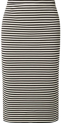 Max Mara Striped Stretch-knit Pencil Skirt - Black